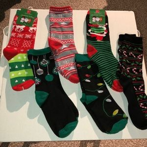 Christmas socks- includes all 6 pair some NWT